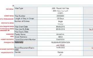 Оформление и получение визы для поездки в Оман