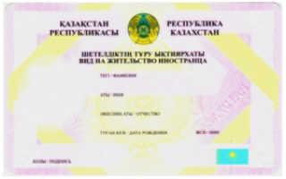 Оформление ВНЖ и получение ПМЖ в Казахстане