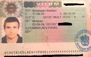 Документы, необходимые для оформления визы в Австрию