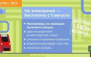 Льготный проезд на пригородных поездах для пенсионеров в Москве и московской области