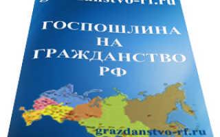 Оплата госпошлины для получения гражданства РФ